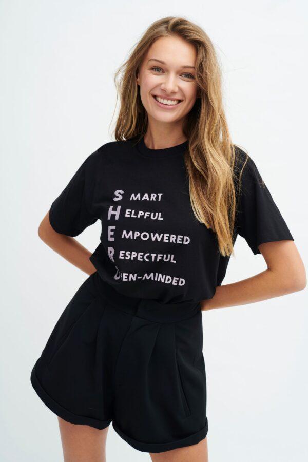 Shero czarny t-shirt Maciej Zieńj